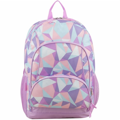 Fuel Crystal Clear Triple Decker Backpack - Peach/White Perspective: top