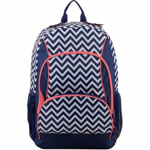 Fuel Triple Decker Backpack - Black/White Chevron Perspective: top