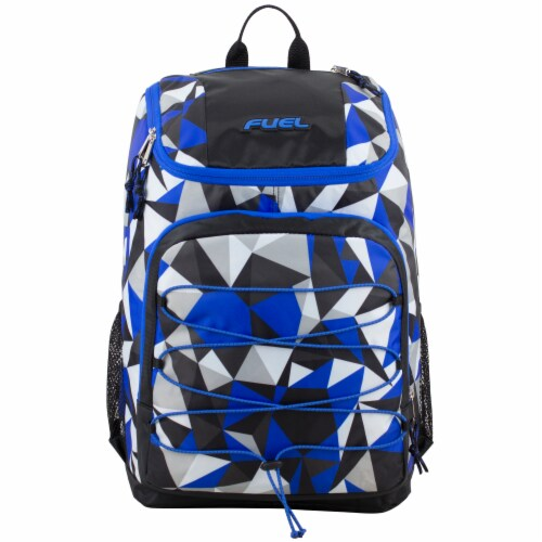 Fuel Wide Mouth Bungee Backpack - Cobalt Splash/Clear Perspective: top