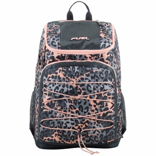 Fuel Wide Mouth Bungee Backpack - Cheetah Tie-Dye Perspective: top