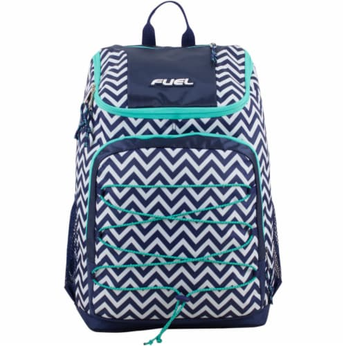 Fuel Wide Mouth Bungee Backpack - Chevron Deep Cobalt Perspective: top