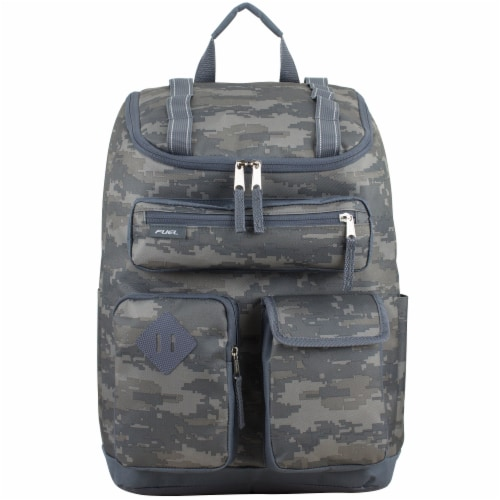 Fuel Wide Mouth Cargo Backpack - Static Camo Perspective: top