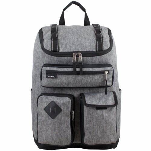 Fuel Wide Mouth Cargo Backpack - Mid-Grey Chambray Perspective: top