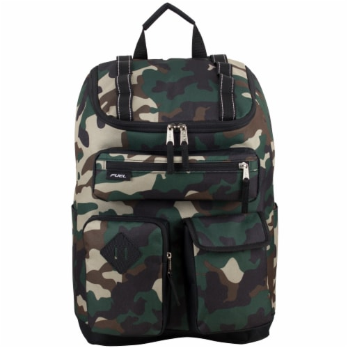 Fuel Wide Mouth Cargo Backpack - Army Camo Perspective: top