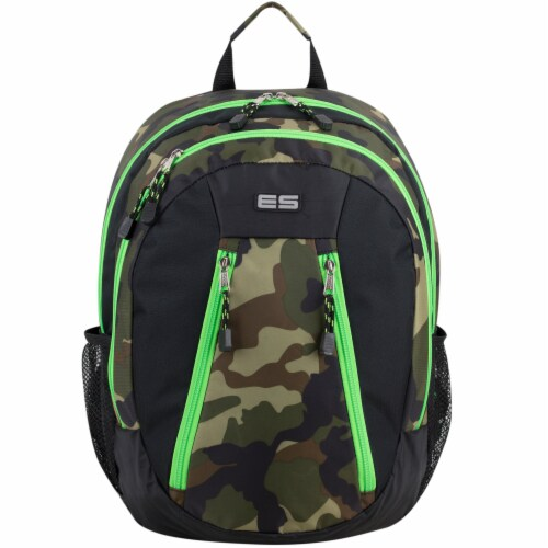 Eastport Active 2.0 Backpack - Camo/Lime Sizzle Perspective: top