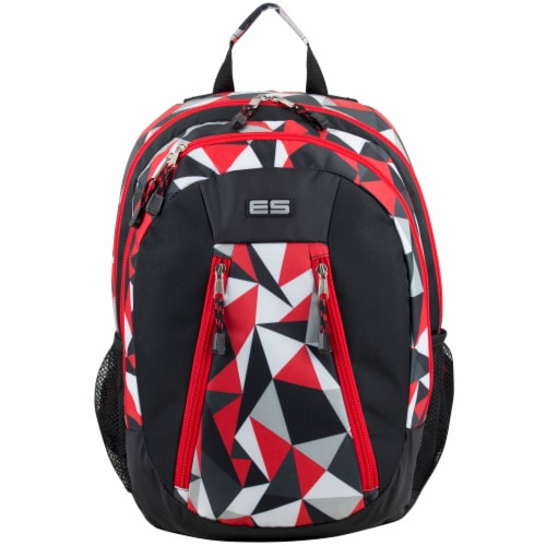 Eastsport Active 2.0 Backpack - Black/Poppy Red Geo Perspective: top