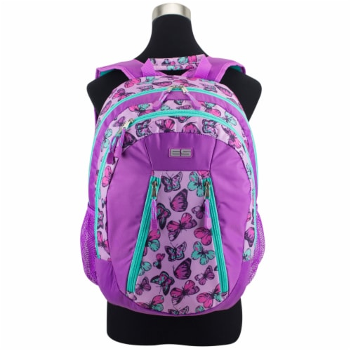 Eastport Active 2.0 Backpack - Colorful Butterflies Perspective: top
