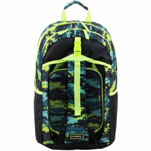 Fuel Deluxe Lunch Bag & Backpack Combo - Static Camo Perspective: top