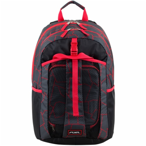 Fuel Deluxe Lunch Bag & Backpack Combo - Geometric Cracks Perspective: top