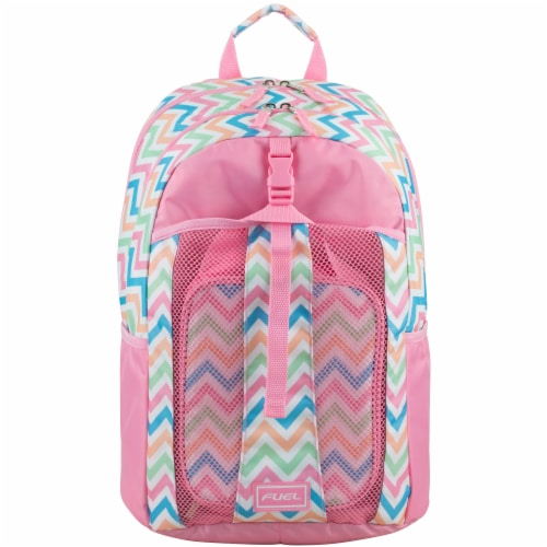 Fuel Deluxe Lunch Bag & Backpack Combo - Cotton Candy Chevron Perspective: top