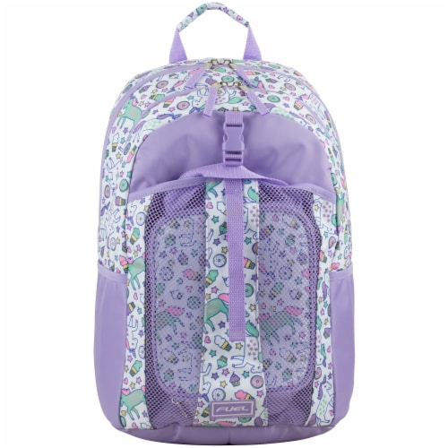 Fuel Deluxe Lunch Bag & Backpack Combo - Unicorn Sweets Perspective: top