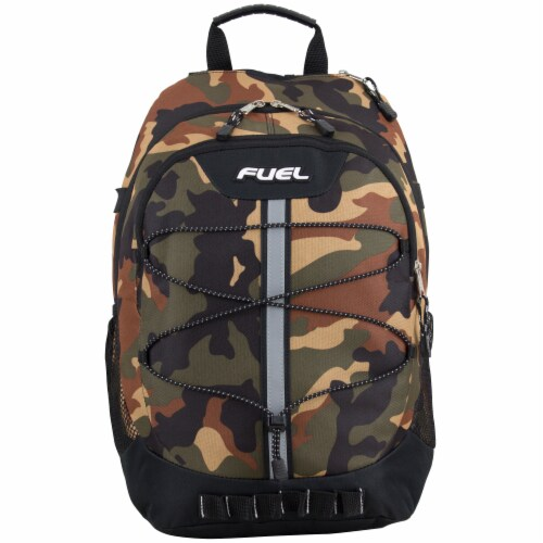 Fuel Army Camo Terra Sport Bungee Backpack Perspective: top