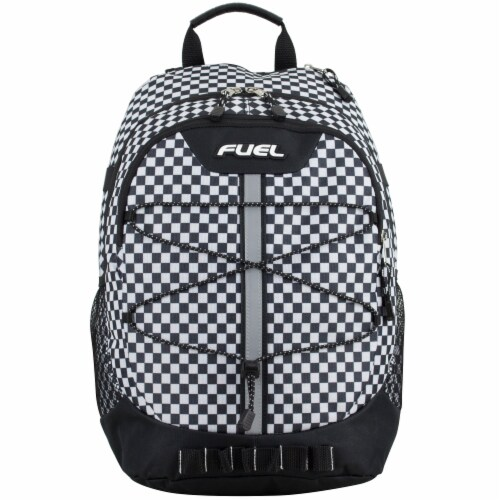 Fuel Checker Plaid Terra Sport Bungee Backpack Perspective: top