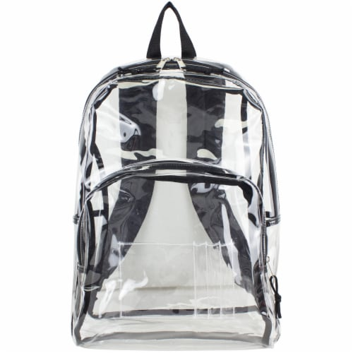 Eastsport PVC Dome Backpack - Black/Clear Perspective: top