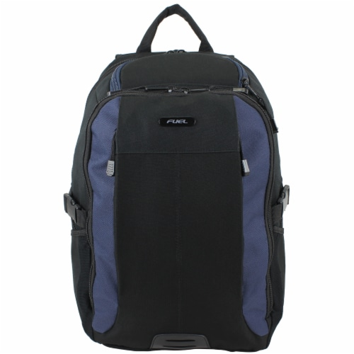 Fuel Force Defender Tech Backpack - Black/Navy Perspective: top