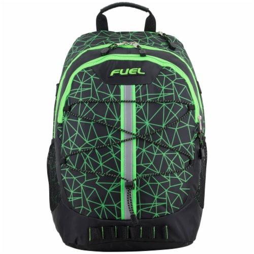 Fuel Shattered Geo Terra Sport Bungee Backpack Perspective: top