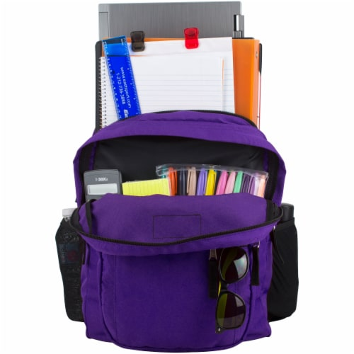 Fuel Deluxe Classic Large Backpack - Purple Perspective: top