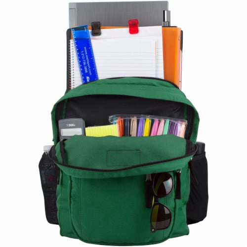 Fuel Deluxe Classic Large Backpack - Forest Green Perspective: top