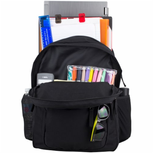 Fuel Deluxe Classic Large Backpack - Black Perspective: top