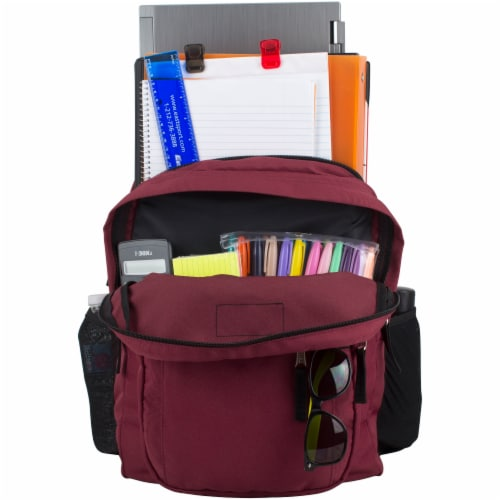 Fuel Deluxe Classic Large Backpack - Maroon Perspective: top