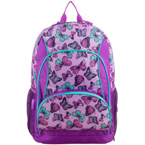 Fuel Colorful Butterflies Triple Decker Backpack Perspective: top