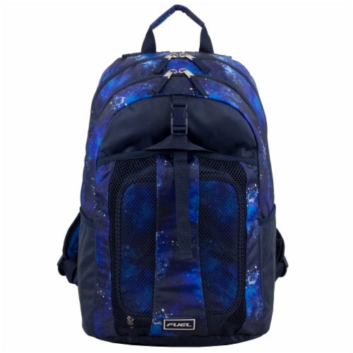 Fuel Deluxe Backpack/Lunch Bag Combo - Blue/Black Perspective: top