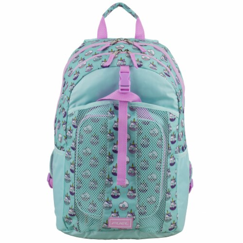 Fuel Deluxe Backpack/Lunch Bag Combo - Pink/Blue Perspective: top