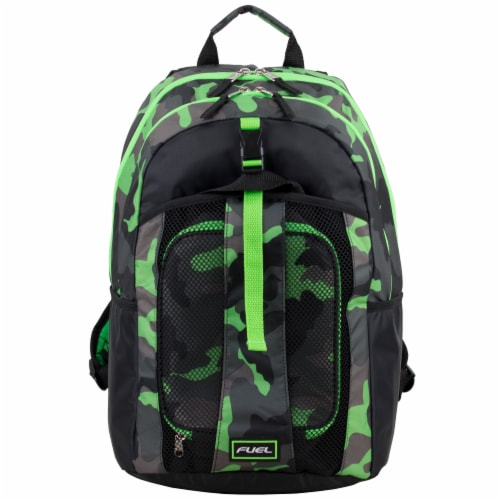 Fuel Deluxe Backpack/Lunch Bag Combo - Green/Black Perspective: top