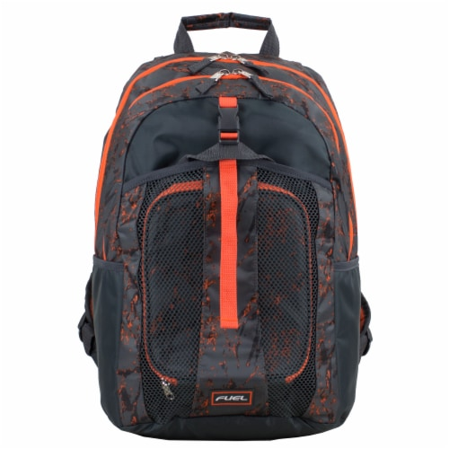 Fuel Deluxe Backpack/Lunch Bag Combo - Black/Orange Perspective: top