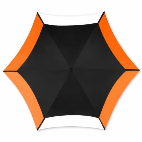 Vortex Vented Manual Golf Umbrella with Fiberglass Shaft - Orange Perspective: top