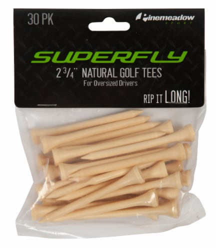 Pinemeadow SuperFly Golf Tees - 30 Pack - Natural Perspective: top