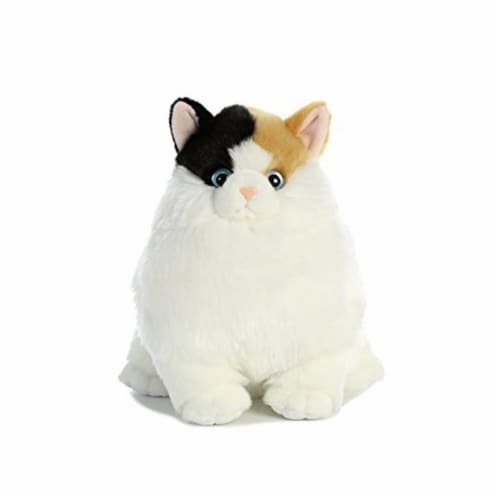 Aurora World Fat Cats Munchy Calico Plush Perspective: top