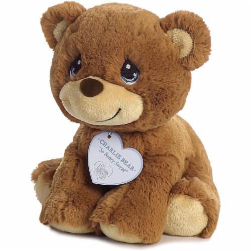 "Aurora World Precious Moments So Beary Sweet Charlie Bear Plush, 8.5"", Brown Perspective: top"