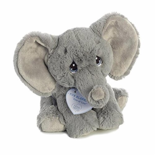 Tuk Elephant 8 inch - Baby Stuffed Animal by Precious Moments (15704) Perspective: top