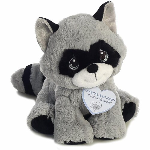 Rascal Raccoon 8 inch - Baby Stuffed Animal by Precious Moments (15705) Perspective: top