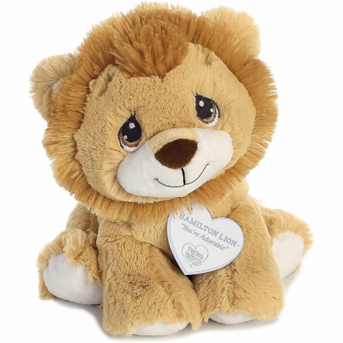 Hamilton Lion 8 inch - Baby Stuffed Animal by Precious Moments (15710) Perspective: top