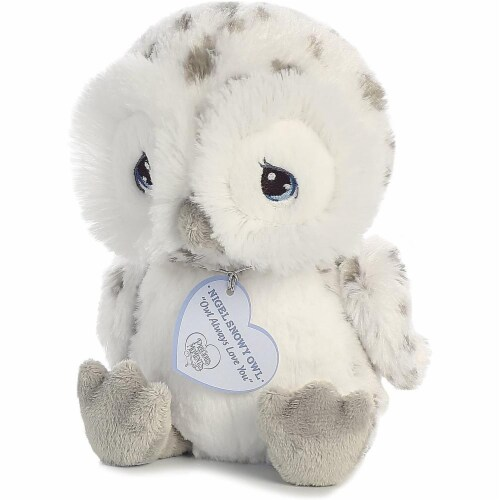Nigel Snow Owl 8 inch - Baby Stuffed Animal by Precious Moments (15712) Perspective: top