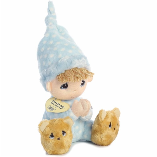 Aurora World Precious Moments Prayer Boy With Sound Now I Lay Me Down To Sleep Plush Perspective: top