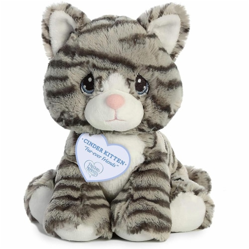 Aurora World Precious Moments Plush Toy, Gray Stiped Cat Perspective: top