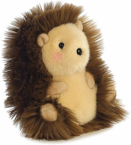 Merry Hedgehog Rolly Pet 5 inch - Stuffed Animal by Aurora Plush (16812) Perspective: top