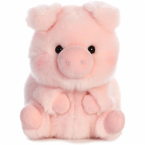 Aurora World Rolly Pet Prankster Pig Plush Perspective: top