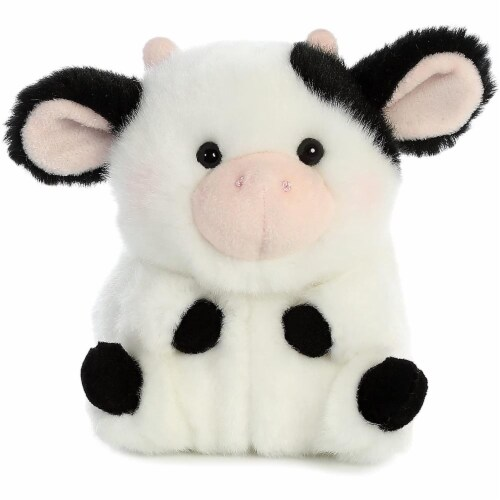 Aurora World Rolly Pet Daisy Cow Plush Perspective: top