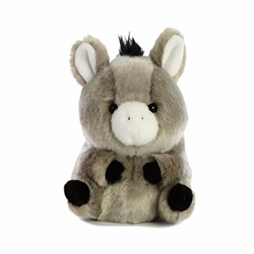 Aurora World Rolly Pet Bray Donkey Plush Perspective: top