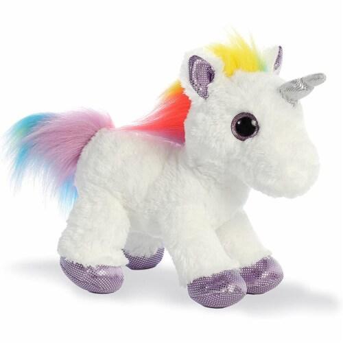 """Aurora World Rainbow Unicorn Flopsie, 12"""" Perspective: top"""