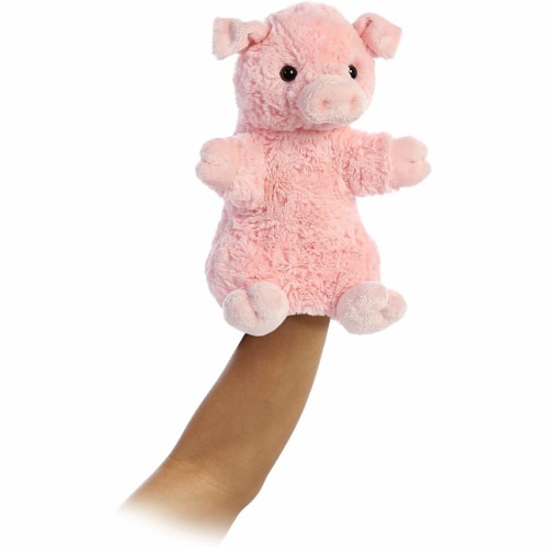 Aurora World Pinky The Pig Hand Puppet Plush, Pink Perspective: top