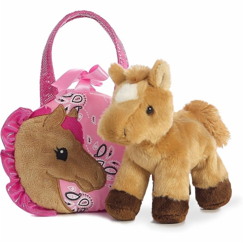 """Pretty Pony Fancy Pal Pet Carrier 8"""" Plush by Aurora - 32766 Perspective: top"""
