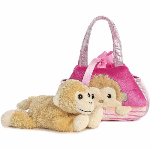 Fancy Pals Peek-A-Boo Monkey 7 Inch Pet Carrier Perspective: top