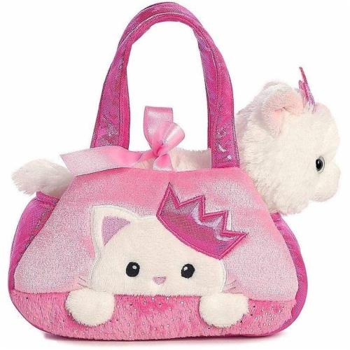 Peek-A-Boo Princess Kitty Stuffed Animal Purse by Aurora Perspective: top