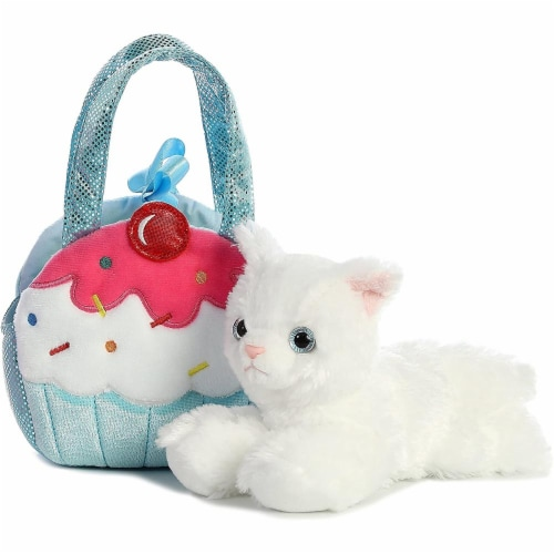 Aurora World Fancy Pals Pet Carrier Sweets Cupcake & Kitty Plush Perspective: top