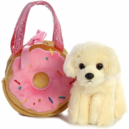 Aurora World Fancy Pals Pet Carrier Yummy Donut & Puppy Plush Perspective: top